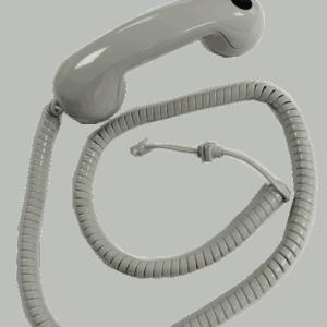 Handset No. 16E Light Grey c/w 4way Cord (9713) & PTT