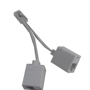 (05-6614 x 2 modified) RJ45 plug to double RJ45 Socket