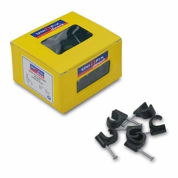 Cable Clip 9.0mm Black pk/100