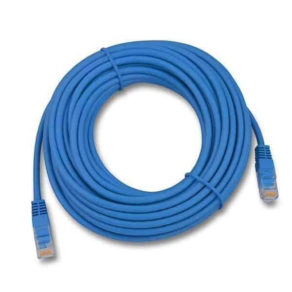 Patch Cord Cat5e 10.0m  Blue Booted