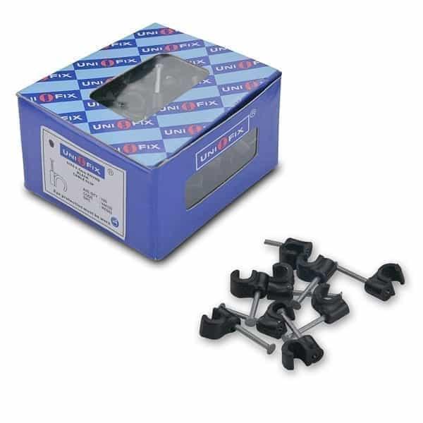 Cable Clip 4.5mm Black Pk/100