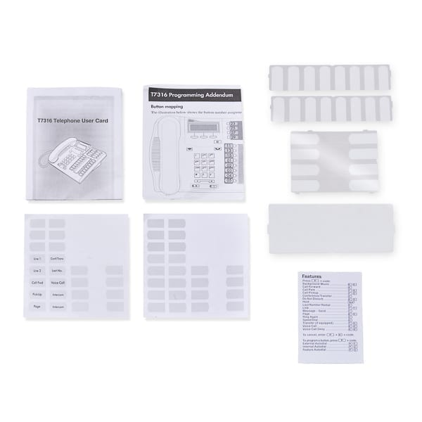 T7316E Telephone User Card & Button Kit