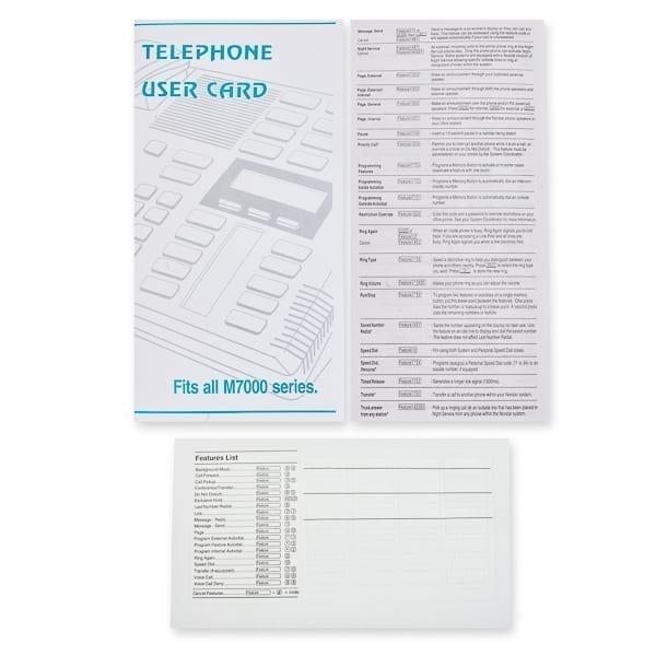 Telephone User Card M7000 series