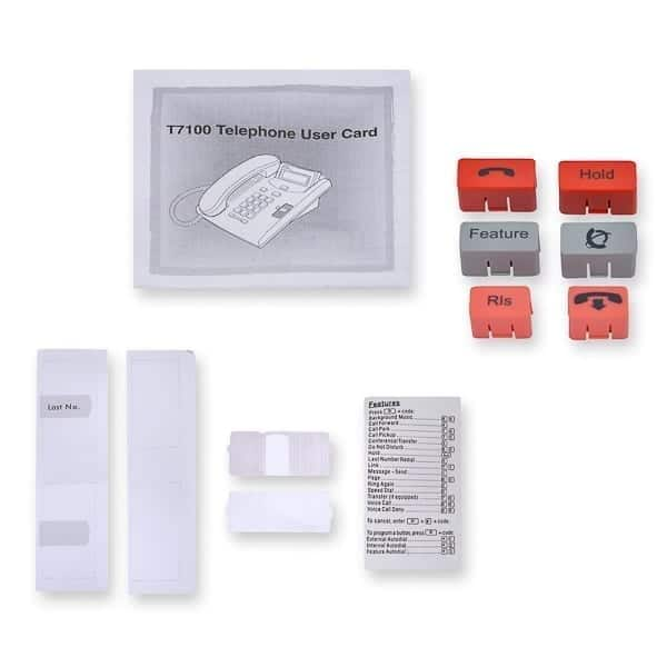 T7100 User Card / Button Pack / Paper and Plastic / Feature