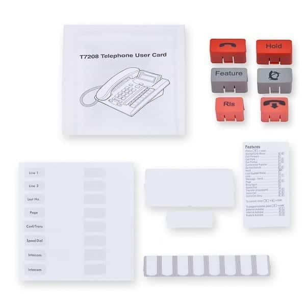 T7208 User Card / Button Pack / Paper and Plastic / Feature